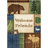 Patchwork Welcome Outdoors Garden Flag