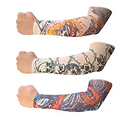 Jack& Ginni Sun Protector Arm Sleeves- Pack Of 3 Pairs