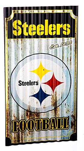Team Sports America Pittsburgh Steelers Corrugated Metal Wall Art at Steeler Mania