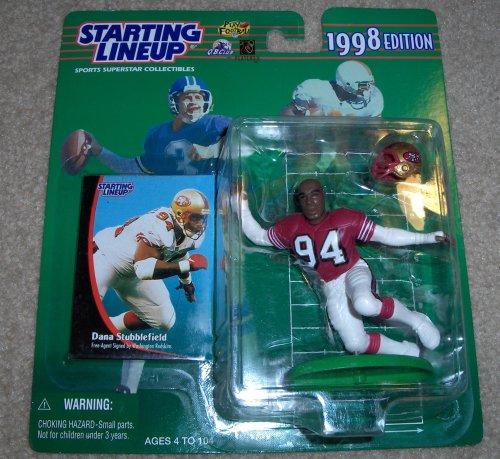1998 Dean Stubblefield NFL Starting Lineup Figure - 1