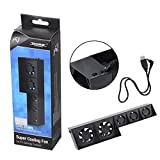 PS4 Cooling Fan,2win2buy USB External Turbo Temperature Control Cooler Cooling 5 Fans for Playstation PS4
