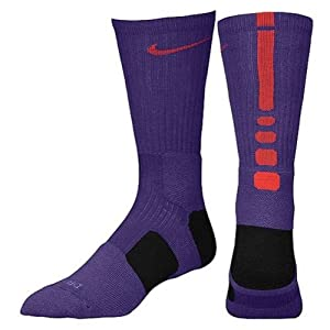 Nike Elite Basketball Socks Purple/ Red and Black Size M