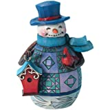 Enesco Jim Shore Heartwood Creek Pint Sized Snowman with Birdhouse Figurine, 5-Inch