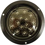 AutoSmart KL-25105C-R Red Flush-Mount LED Stop/Turn/Tail Light with Clear Lens