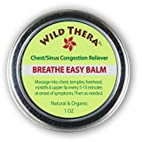 Breathe Easy Balm. Effective & Fast Relief from Sinus Infection, Nasal Congestion, Atuffy Nose, Allergies, Dry Cough and Colds. Vaporizer to Open Blocked Airways, Loosen Mucus, Release Toxins.