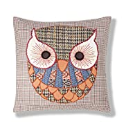 Owl Appliqué Cushion