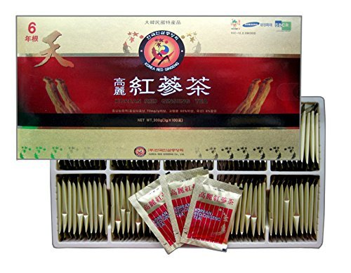 Korean Red Ginseng Tea 3g x 100 Packets, Ginseng Tea, Made in Korea - 6 Year Roots (Red Ginseng Extract Tea compare prices)