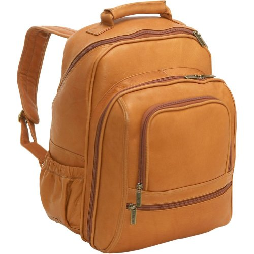 Le Donne Leather Computer Back Pack – Tan