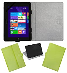 ACM LEATHER FLIP FLAP TABLET HOLDER CARRY CASE STAND COVER FOR NOTION INK CAIN 10 GREEN