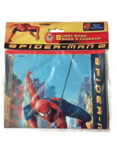 Marvel Spider-Man 2 Birthday Treat Loot Bags [8 Count] - 1