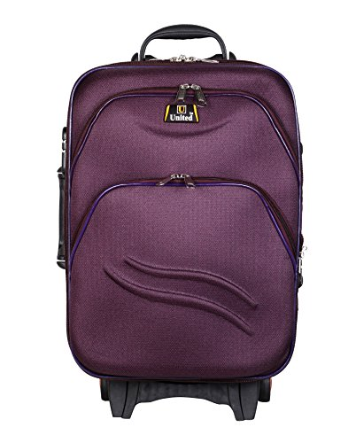 United Bag UTB038 Double Shell Sea Wave Trolley Bag - Medium(Purple)  available at amazon for Rs.1999