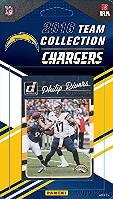 San Diego Chargers 2016 Donruss NFL Football Factory Sealed Limited Edition 12 Card Complete Team Set with Philip Rivers,Legend LaDainian Tomlinson, Joey Bosa RC & Many More! Shipped in Bubble Mailer!