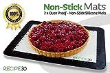 "2 X Trusted Brand, Non-Stick Premium, Quarter Sheet Silicone Baking Mats - Modern Black and White 2 Pack, convenient, handy quarter size (11.5"" x 8.5"")"