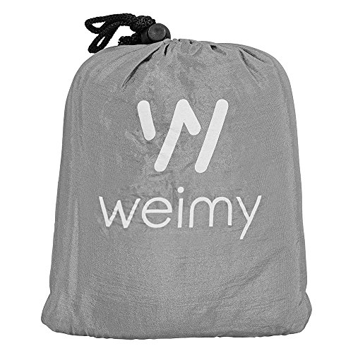 Lightweight Beach Blanket / Outdoor Picnic Compact Blue Grey Blanket 7 X 6 Feet, Sand Proof, Quick Drying, with Sand Pockets and 4 Plastic Stakes