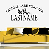 Families Are Forever Wall Sticker Custom Wall Decal Art available in 5 Sizes and 25 Colours X-Large Black