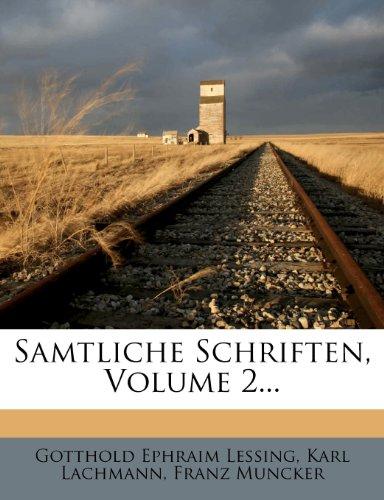 Gotthold Ephraim Lessings Samtliche Schriften, Dritte Auflage, Zweiter Band