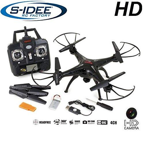 s-idee-01508-Quadrocopter-X5SC-Explorer-Forscher-Syma-HD-Kamera-mit-Tonaufzeichnung-mit-Motor-STOPP-Funktion-Akku-Warner-360-Flip-Funktion-Nachfolger-vom-Syma-X5C-24-GHz-4-Kanal-6-AXIS-Stabilization-S