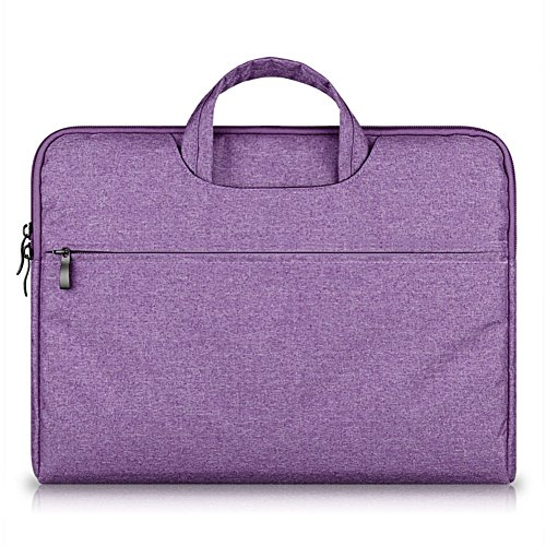 G7Explorer Water-resistant Laptop Sleeve Case Bag Portable Computer handbag For Apple Macbook Air Pro and other Notebook 15.6 inches Purple