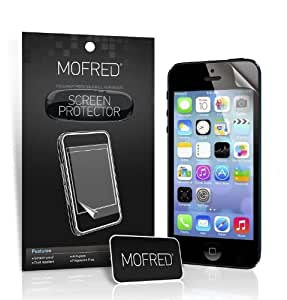 Apple iPhone 5 / 5S / 5C - 6 Screen Protectors Pack Retail Packed with Cleaning Cloth and Application Card (Lifetime Guarantee)