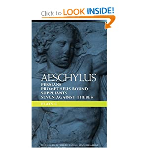 an analysis of oresteia trilogy by aeschylus Agamemnon is only the first play of the great tragic trilogy, the oresteia aeschylus wrote the oresteia around 458 bce it is his sole trilogy to survive intact the two other plays, choephori and eumenides, and a lost satyr play called proteus won its author first prize at the great dionysa.