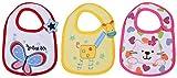 #6: Baby Bucket Soft Cotton Baby Bibs Set of 3 (White)
