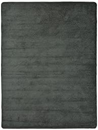Euro Collection Solid Color Area Rug Rugs Slip Skid Resistant Rubber Backing Machine Washable More Color Options (Grey, 5 x 7 (4\'11\