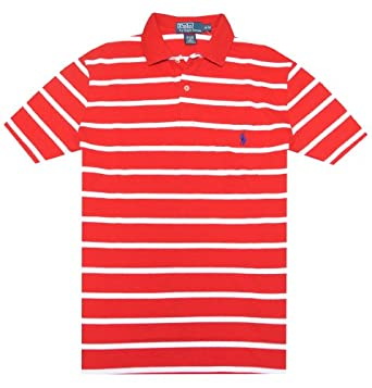 Red polo shirts on shoppinder for Red white striped polo shirt