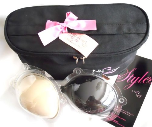 NuBra Feather-Lite Travel Pack - 2 Nubra Feather-Lites (1 Nude & 1 Black) in a FREE Toiletry Bag, Cup C