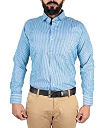 McHenry turquoise striped shirt