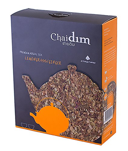 Chaidim Premium Organic Herbal tea 25 teabags (Lemongrass/Ginger) (Dragon Ball Energy Drink compare prices)