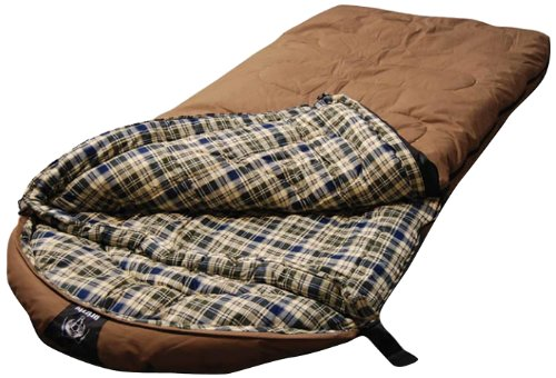 Grizzly +25 Degree Canvas Sleeping Bag (Light Brown)