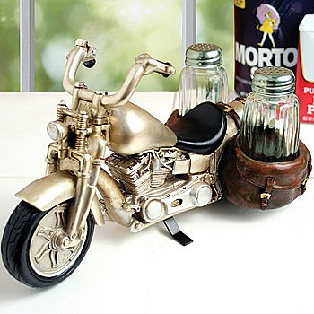 Motorcycle Glass Salt and Pepper Shaker Set – Kitchen and Dining Seasoning