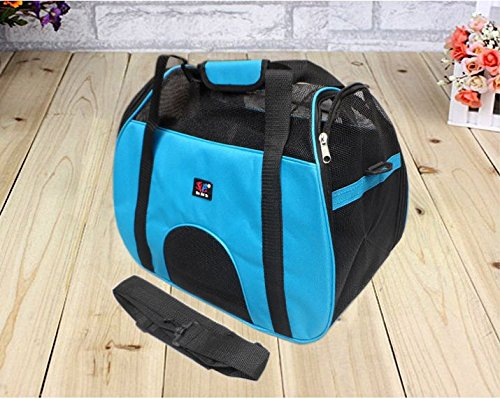 Pet Carrier Soft Sided Cat / Dog Comfort (4, Blue)