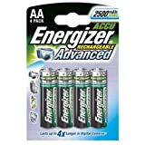 Energizer AA Rechargeable Batteries 4 Pack 2500mAHby Energizer