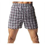 Hanes 838BX5 Men's TAGLESS Tartan Boxers with Comfort Flex Waistband 5-Pack