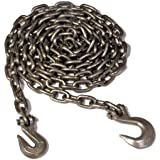 Koch A05292 3/8 by 14-Feet Log Chain Grade 43 with Grab and Slip Hooks, Self Colored