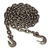 Search : Koch A05292 3/8 by 14-Feet Log Chain Grade 43 with Grab and Slip Hooks, Self Colored