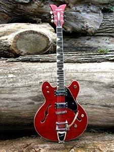 Hutchins Electric Guitar Semi Hollow Memphis Rose