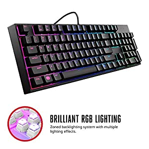 "Cooler Master MasterKeys Lite L RGB Combo Gaming Bundle ""SGB-3040-KKMF1-FR, French Layout, RGB LED with Lighting Effects, ""Mem-Chanical"" Keyboard and Ambidextrous Mouse Bundle"""