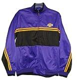NBA Men's LA Lakers Basketball Jacket, Size XL, Deep Purple/Black/Gold