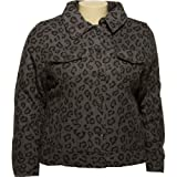 JUNIOR PLUS - DOLLHOUSE Wool-Blend Leopard Print Jacket [6746XF]GryLEP