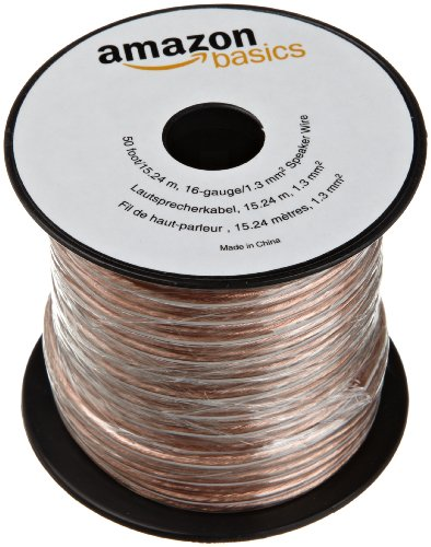 Find Bargain AmazonBasics 16-Gauge Speaker Wire - 50 Feet