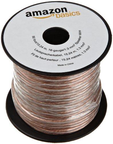 Find Bargain AmazonBasics 16-Gauge Speaker Wire - 50 Feet