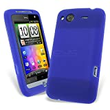 Dark Blue Soft Silicone Skin Case for HTC Salsa + Screen Guard HTC Salsa Case Cover