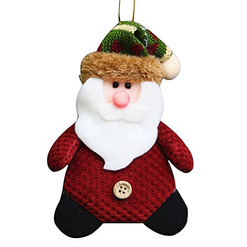 Cideros Christmas Decoration Supplies Cute Santa Bells Dolls Pendants Xmas Tree Windoor Ornaments Gift for Home,Style 4 - Size 158cm