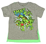 Teenage Mutant Ninja Turtles Little Boys' Tent Group Cape T-Shirt, Grey, 4T