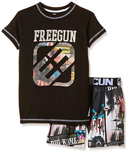 Freegun EG.FREEKONG.PSHB.MZ-Set abbigliamento sportivo Bambino    nero 10 anni