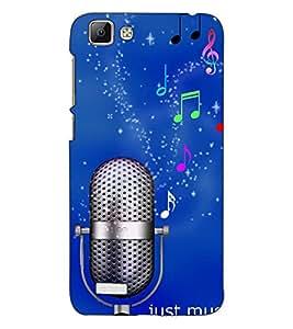AKP SUBLIMATIONS Premium Just Music Designer Back Case Cover for Vivo V1 - B1161