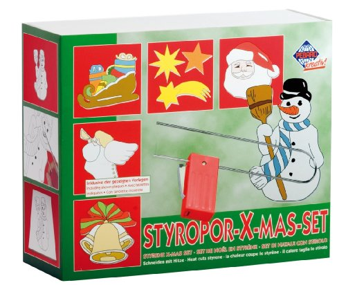 Pebaro 800W - Styroporschneide Set Xmas, Vorlagen für Weihnachten
