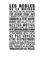 """Ambience Live Vinilo Decorativo """"Les Règles de la maison"""" Negro"""